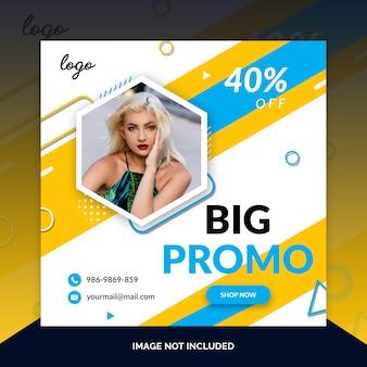 Angebotverkaufsweb-social media-fahnenschablone