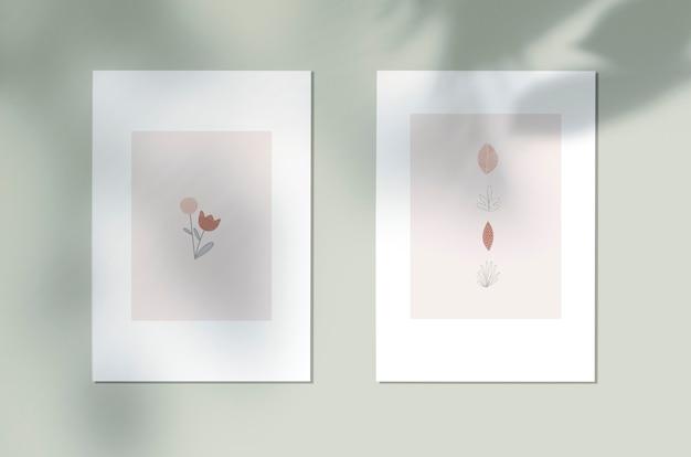 Angeredetes botanisches designplakat