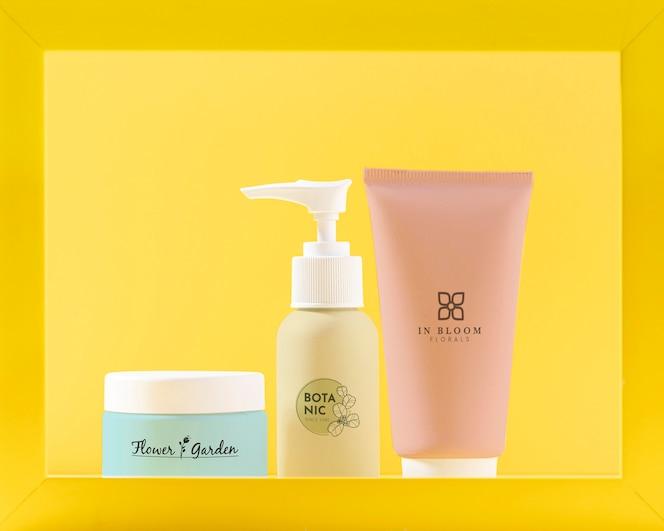Anordnung der kosmetischen produkte