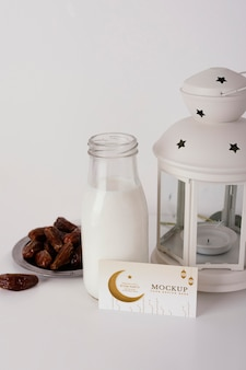 Anordnung der muster-ramadan-visitenkarte