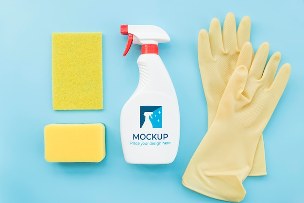 Anordnung der reinigungsprodukte flach legen