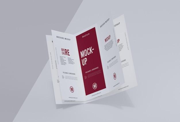Anordnung des broschürenmodells, isoliert auf weiss
