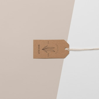 Anordnung des mock-up-kartonanhängers