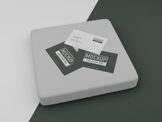 Anordnung des visitenkartenmodells Premium PSD