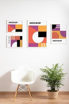 Anordnung von dekorativen musterrahmen