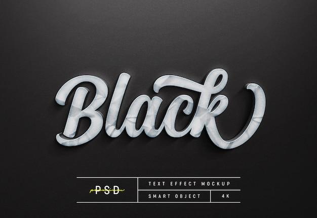 Anpassbare schwarze textstil-effekt-modellvorlage
