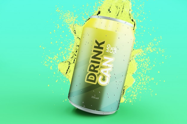 Anpassbare soda-getränkedose in premiumqualität mit wasserspritzmodellen