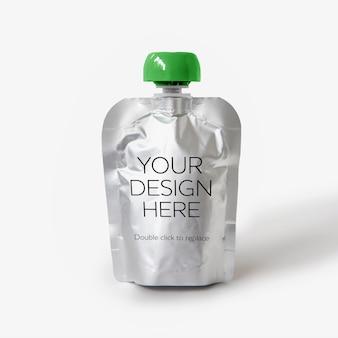 Ansicht eines modells des flaschenvitaminkürbisses