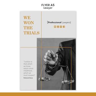 Anwaltskanzlei poster vorlage
