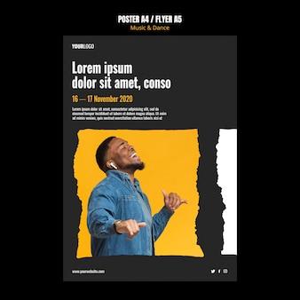 Anzeigenvorlage für plakatmusik- und tanzereignisse