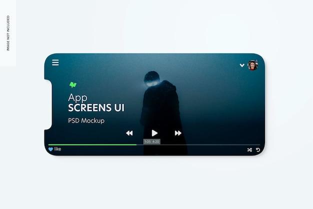 App-bildschirme ui-mockup, horizontal
