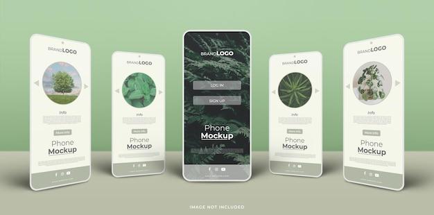 App-schnittstellenmodell auf dem telefonbildschirm