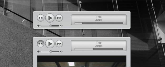 Apple itunes ähnliche media controls und interface