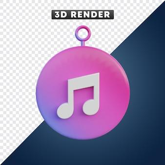Apple itunes musik-app-mediensymbol 3d-objekt