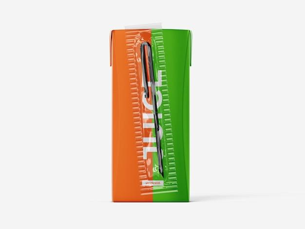 Apple juice box mockup vorlage