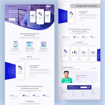 Apps creator online-agentur-landingpage