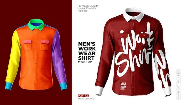 Arbeitskleidungshemd mokup