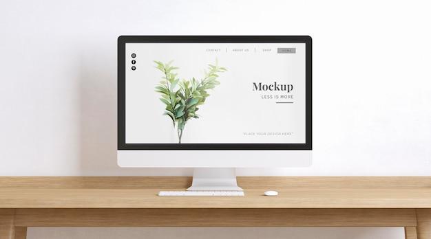 Arbeitsplatz mit homepage-modell