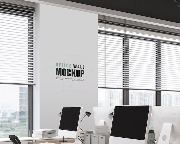 Arbeitsraum mit modernem industriedesign-wandmodell
