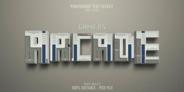 Arcade gamers 3d-textstil-effektvorlage
