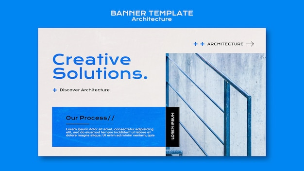 Architektur-banner-vorlage