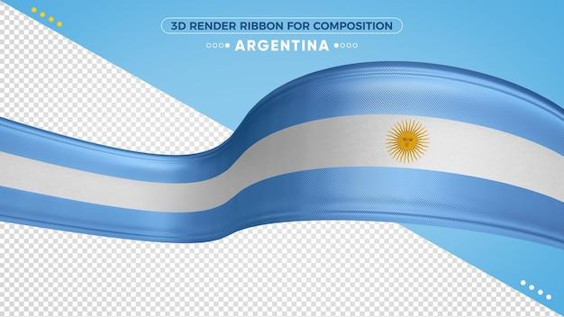 Argentinien 3d band mit flaggenfarben