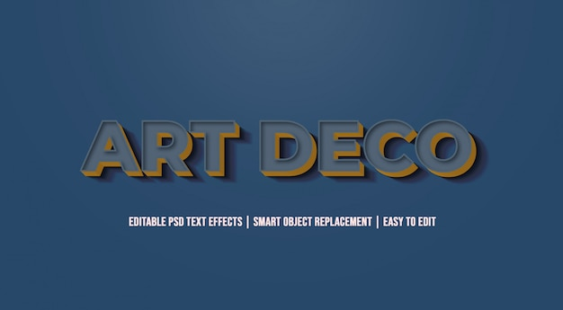 Art deco - alte vintage texteffekte