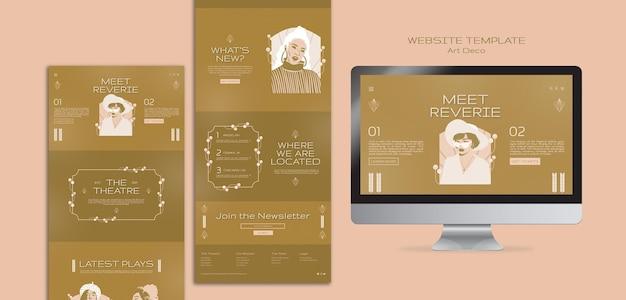 Art-deco-musical-webvorlage