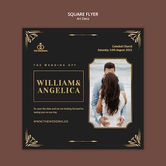 Art-deco-quadrat-flyer-design-vorlage