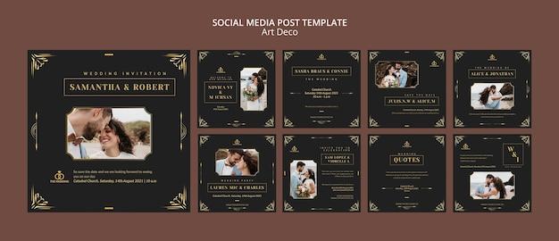 Art-deco-social-media-post-designvorlage