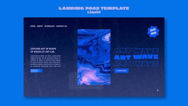 Art wave landing page vorlage