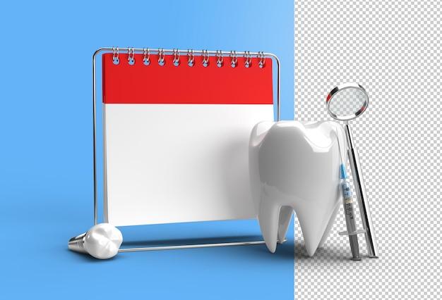 Arzttermin mit zahnimplantaten chirurgie konzept transparente psd-datei.