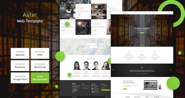 Aster-webvorlage