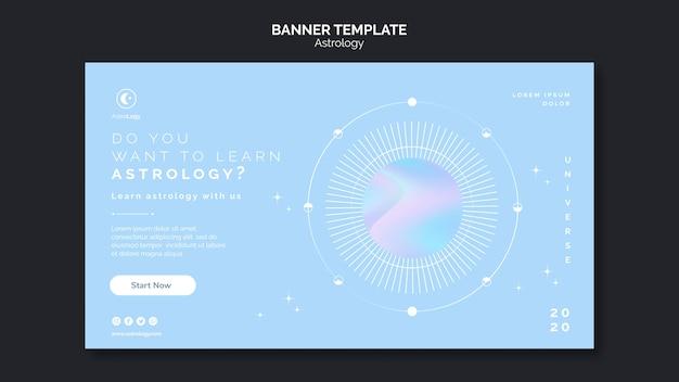 Astrologie-banner-vorlage