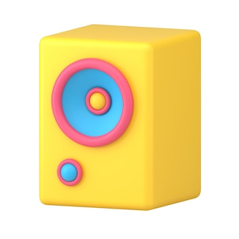 Audio-lautsprecher 3d-symbol