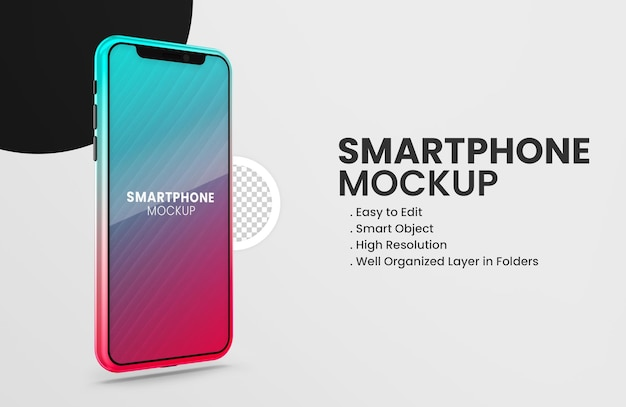 Auf dem tiktok-farb-smartphone-gerätemodell