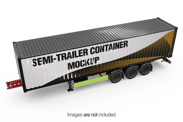 Auflieger-container-modell