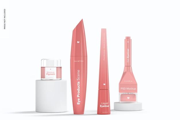 Augen-make-up-produkte szenenmodell, vorderansicht