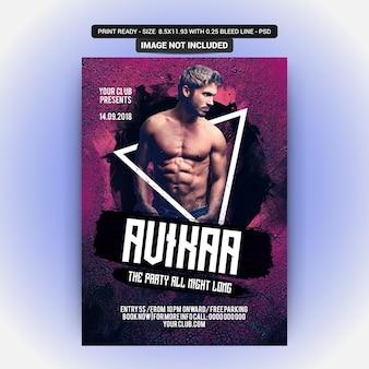 Auikaa party flyer
