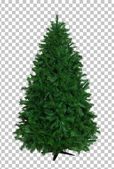 Aus nacktem künstlichem weihnachtsbaum herausschneiden