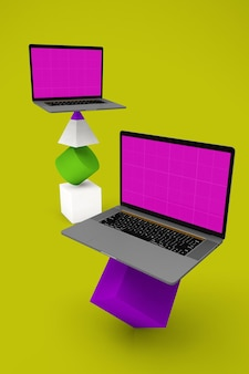 Ausbalancierter laptop