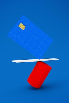 Ausgeglichene kreditkarte