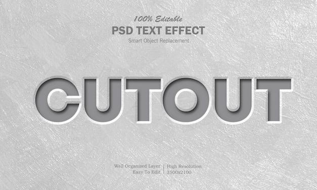 Ausgeschnittener texteffekt