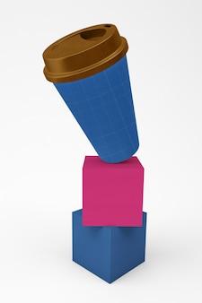 Ausgewogene kaffeetasse