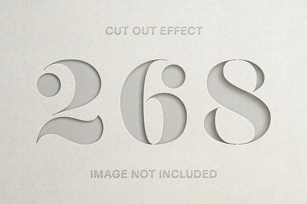 Ausschneiden des papiereffekt-logo-modells