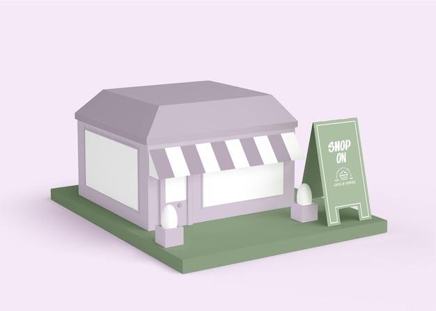 Außenwerbung des einkaufskonzepts