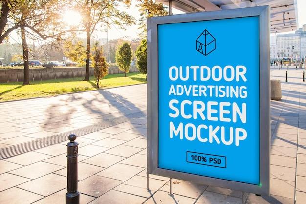 Außenwerbung screen mock-up