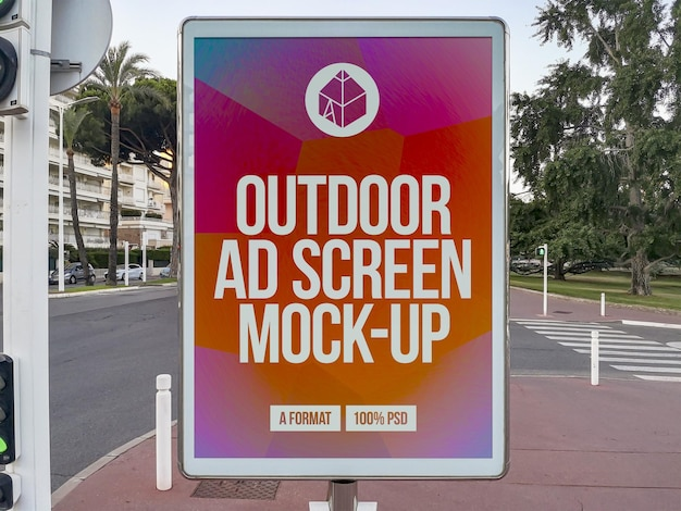 Außenwerbung screen mockup