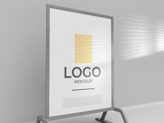 Aussteller stand banner logo mockup 3d render