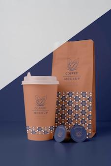 Auswahl an coffeeshop-elementen-mock-up